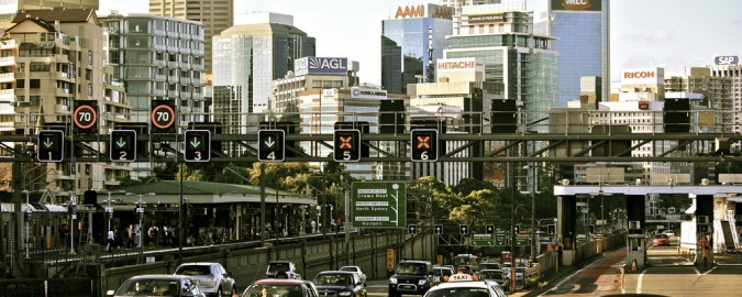 North Sydney and Traffic on the Harbour Bridge By Alex E. Proimos licensed creative commons