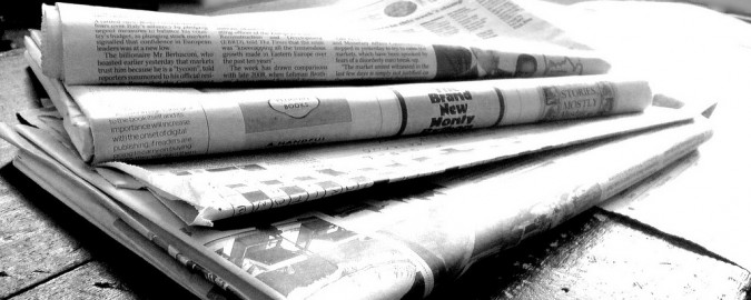 Newspapers B&W By Jons Licensed Creative Commons